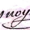 Honoré Magloire Desnoyelles (1787/1841), sa signature en 1834