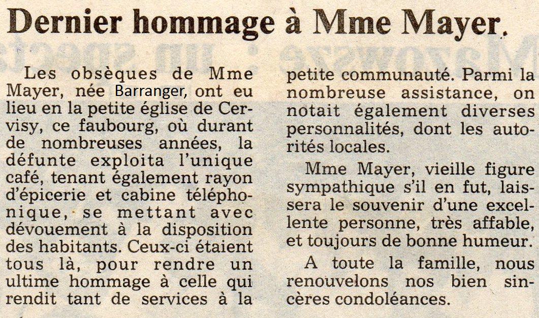 Presse 1985 : Hommage