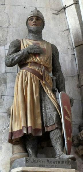 Jean de Montmirail, statue église