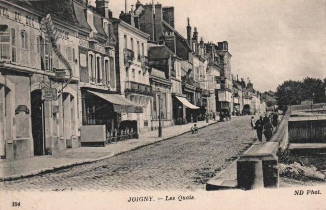 Joigny (89) Les quais CPA