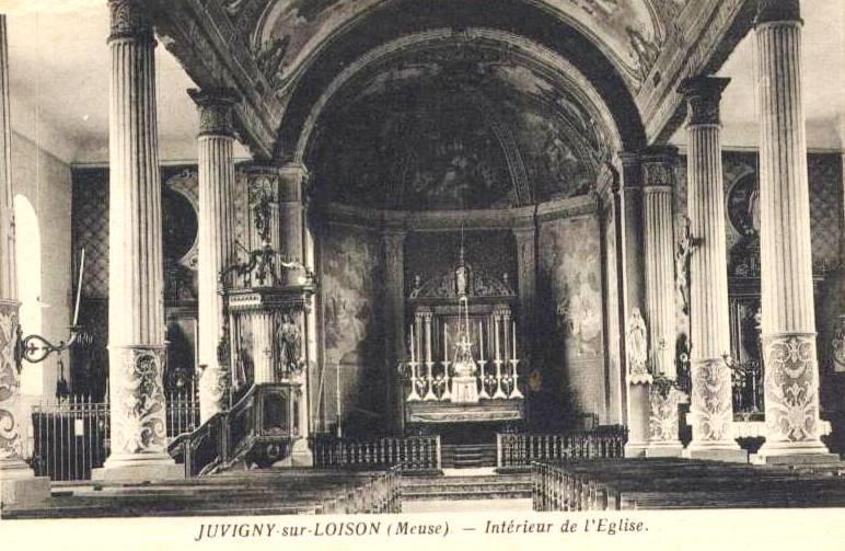 Juvigny-sur-Loison (Meuse) L'église Saint Denis CPA
