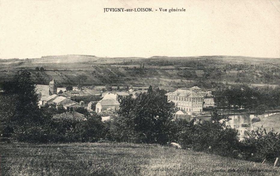 Juvigny-sur-Loison (Meuse) Vue générale en 1910 CPA