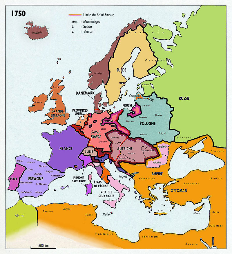 L'Europe en 1750