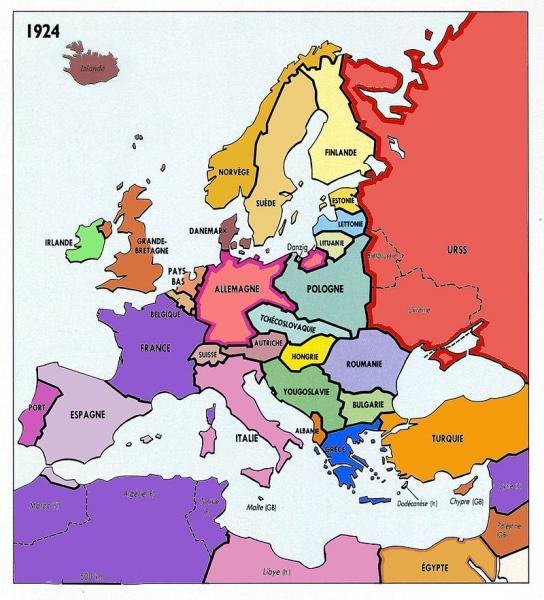 L'Europe en 1924