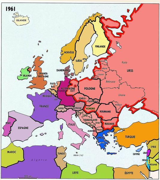 L'Europe en 1961, Yalta