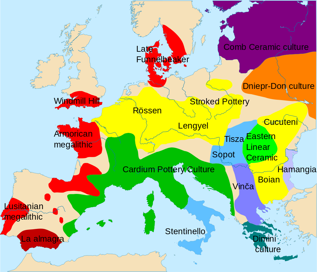 L'Europe vers -5000 avant J.-C.