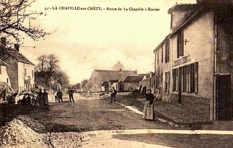 La Chapelle-sur-Chézy (Aisne) CPA route de La Chapelle à Essises