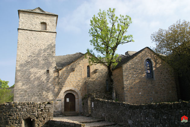 La Couvertoirade (Aveyron) L'église Saint-Christophe