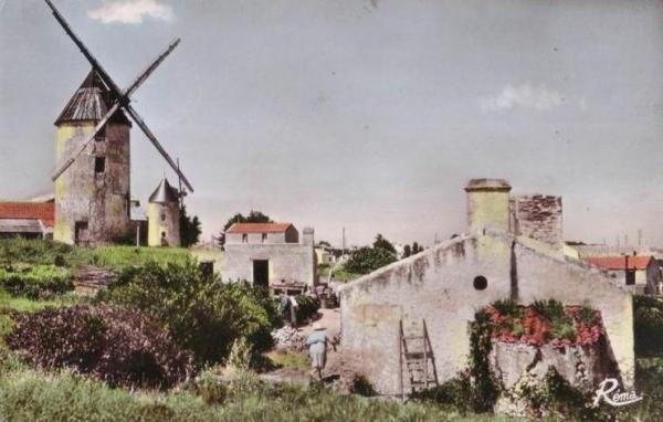 La Guérinière (Vendée) Moulin CPA
