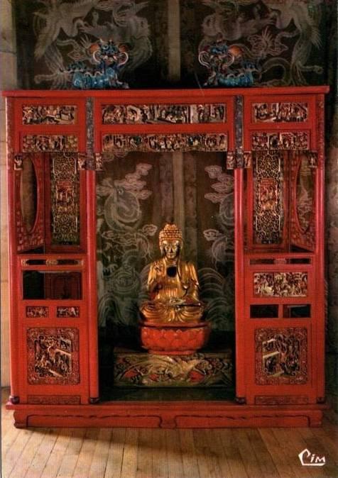 La Rochepot (Côte d\'Or) Le château, chambre chinoise CPA