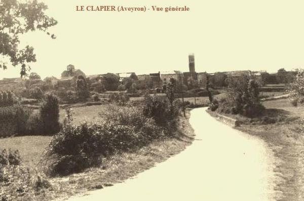 Le Clapier (Aveyron) CPA Vue générale