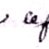 Lefranc Claude (1725/1817), sa signature en 1747