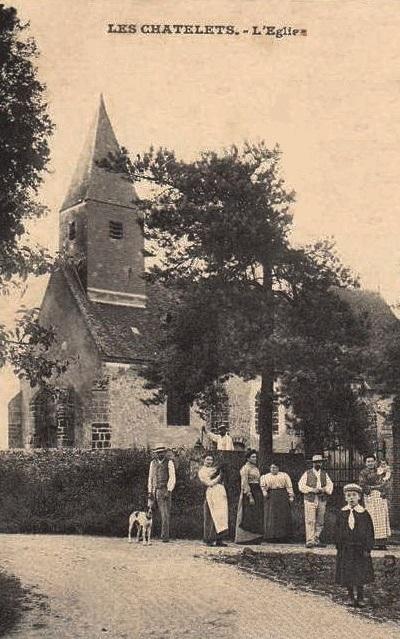 Les Châtelets (28) L'église Saint-Pierre CPA
