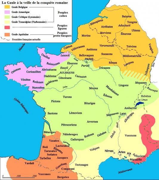 Les peuples Gaulois avant l'invasion Romaine