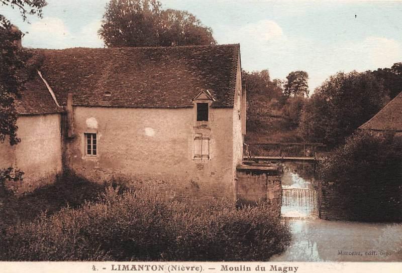Limanton (Nièvre) L'ancien moulin du Magny CPA