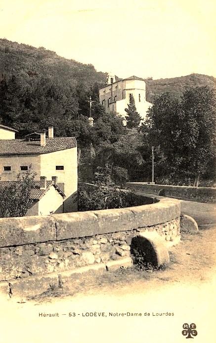 Lodève (Hérault) La chapelle N-D de Lourdes CPA