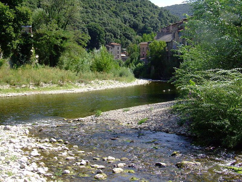 Lodève (Hérault) La confluence de la Lergue et de la Soulondre