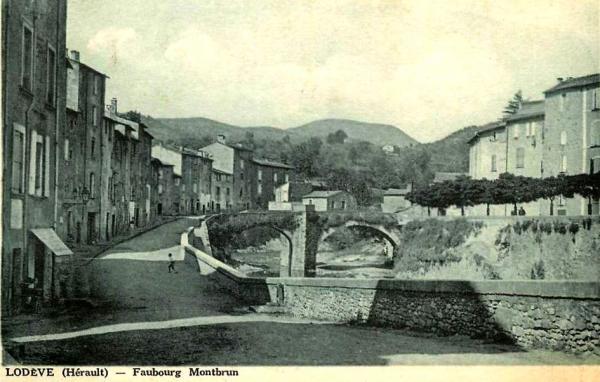 Lodève (Hérault) Le Faubourg Montbrun CPA