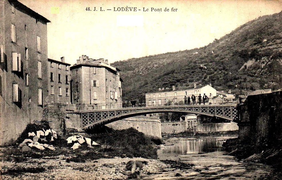Lodève (Hérault) Le pont de fer CPA