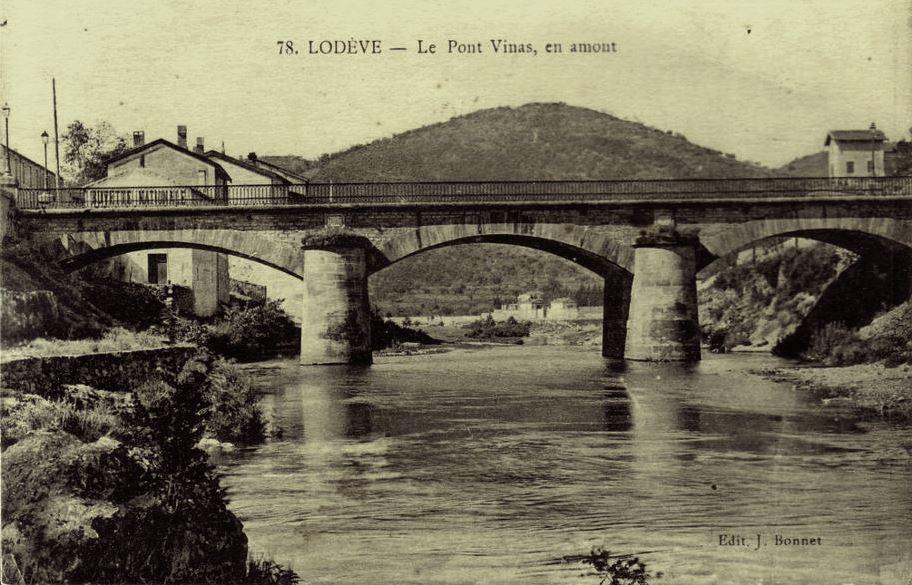 Lodève (Hérault) Le pont Vinas CPA