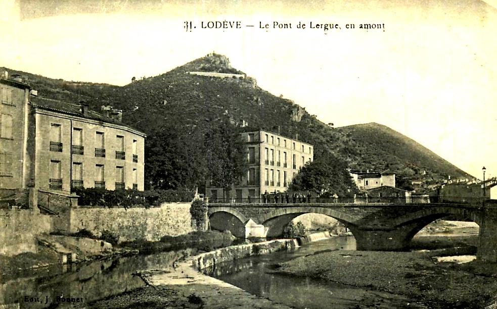 Lodève (Hérault) Le rocher des Fourches CPA