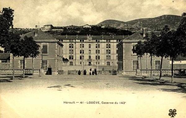 Lodève (Hérault) Les casernes CPA