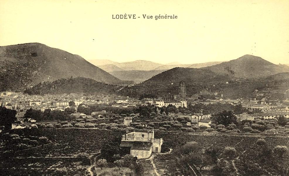 Lodève (Hérault) Vue générale CPA