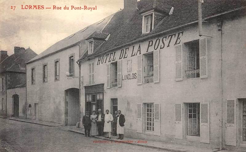 Lormes (Nièvre) L'hôtel de La Poste CPA