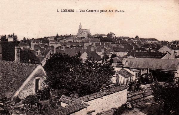 Lormes (Nièvre) Vue générale CPA