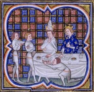 Louis II, recevant le pape Jean VIII