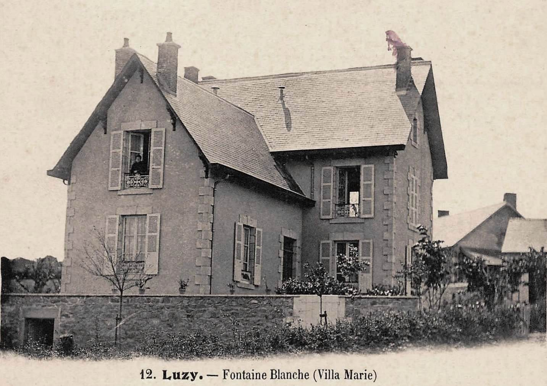 Luzy (Nièvre) Fontaine Blanche, la villa Marie CPA