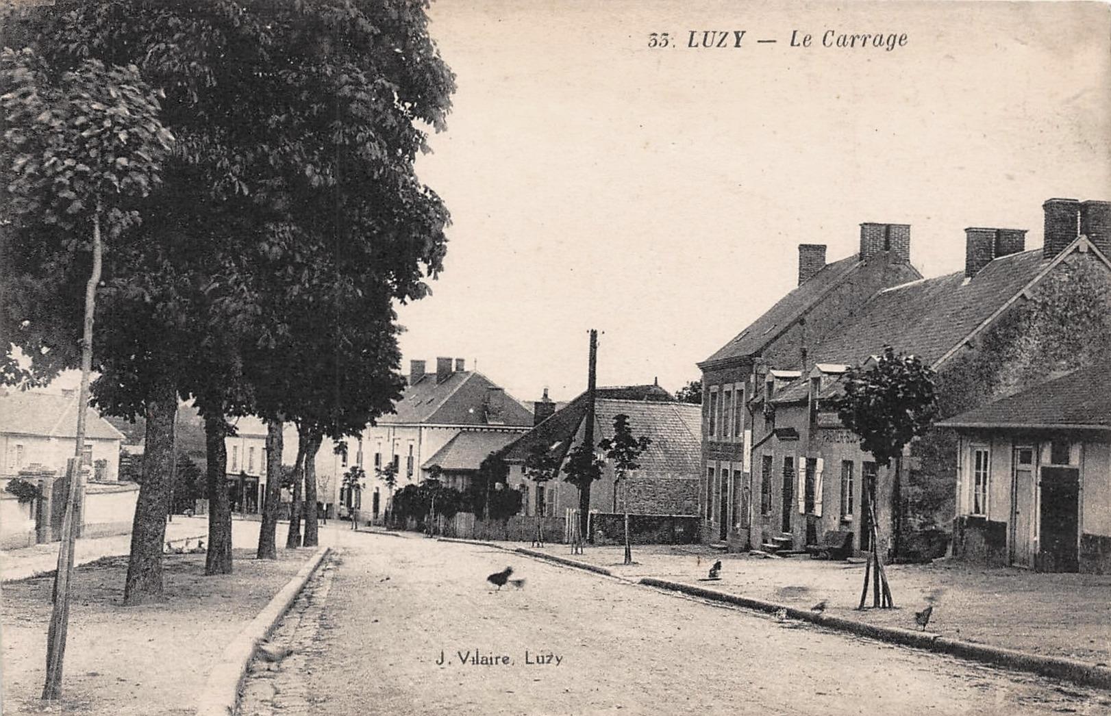 Luzy (Nièvre) Le carrage CPA