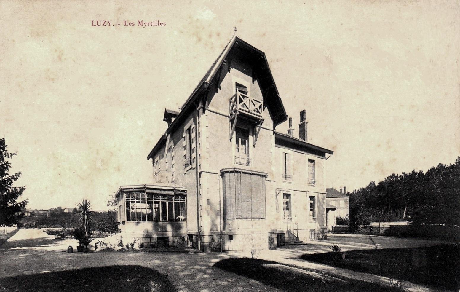 Luzy (Nièvre) Les Myrtilles CPA