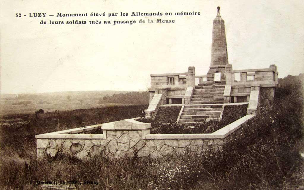 Luzy-Saint-Martin (Meuse) Le mémorial allemand CPA