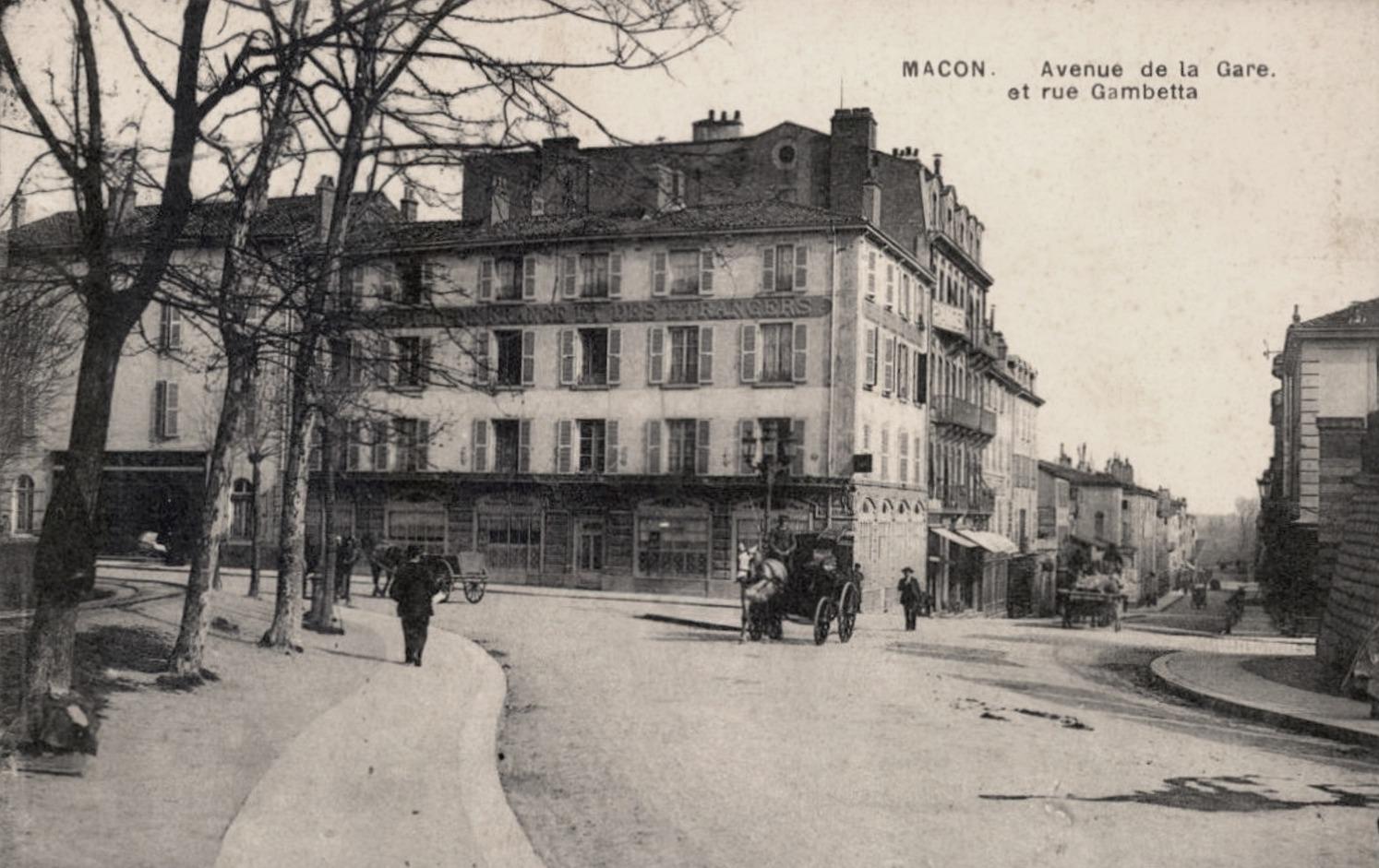 Mâcon (71) Avenue de la Gare CPA