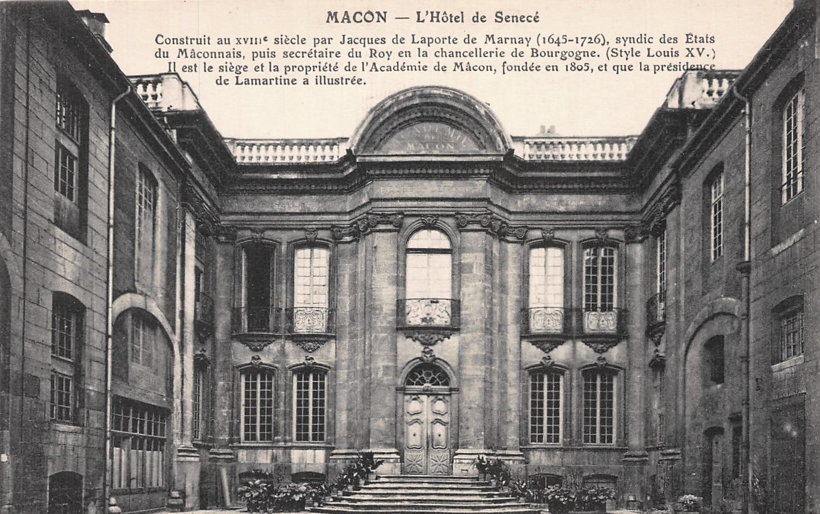Mâcon (71) Sennecé-les-Mâcon, hôtel particulier de Senecé  CPA