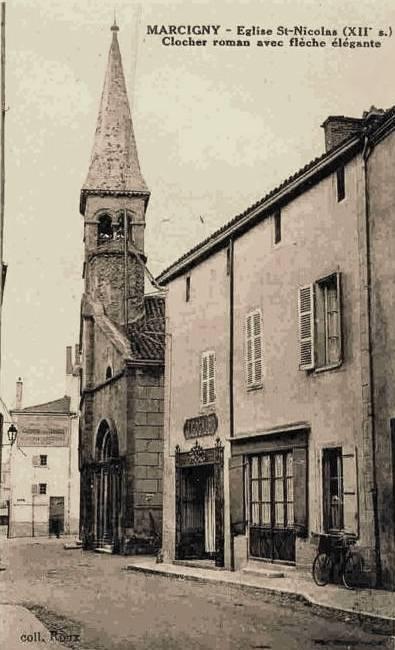 Marcigny (71) Eglise Saint-Nicolas CPA