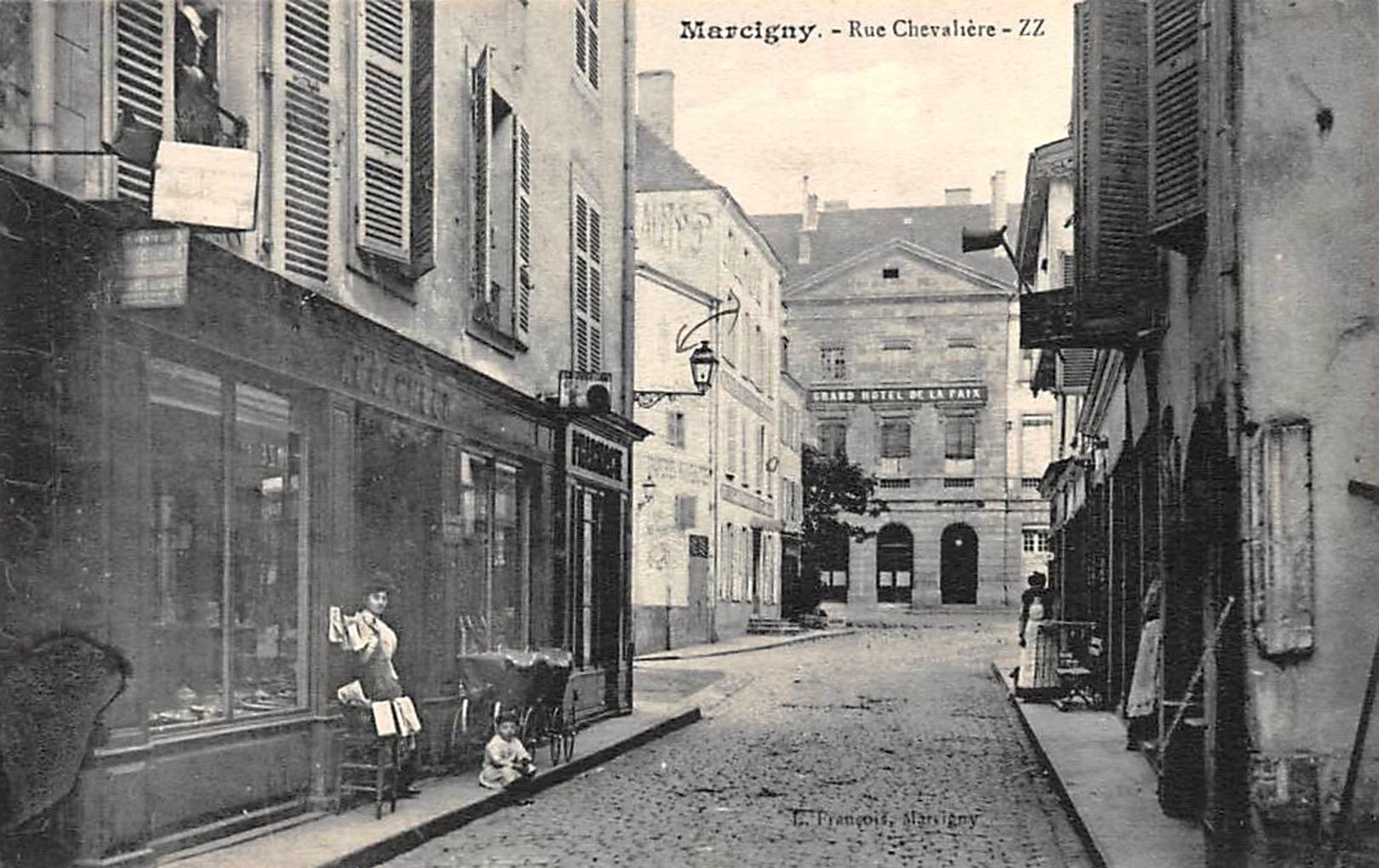 Marcigny (71) Rue Chevalière CPA