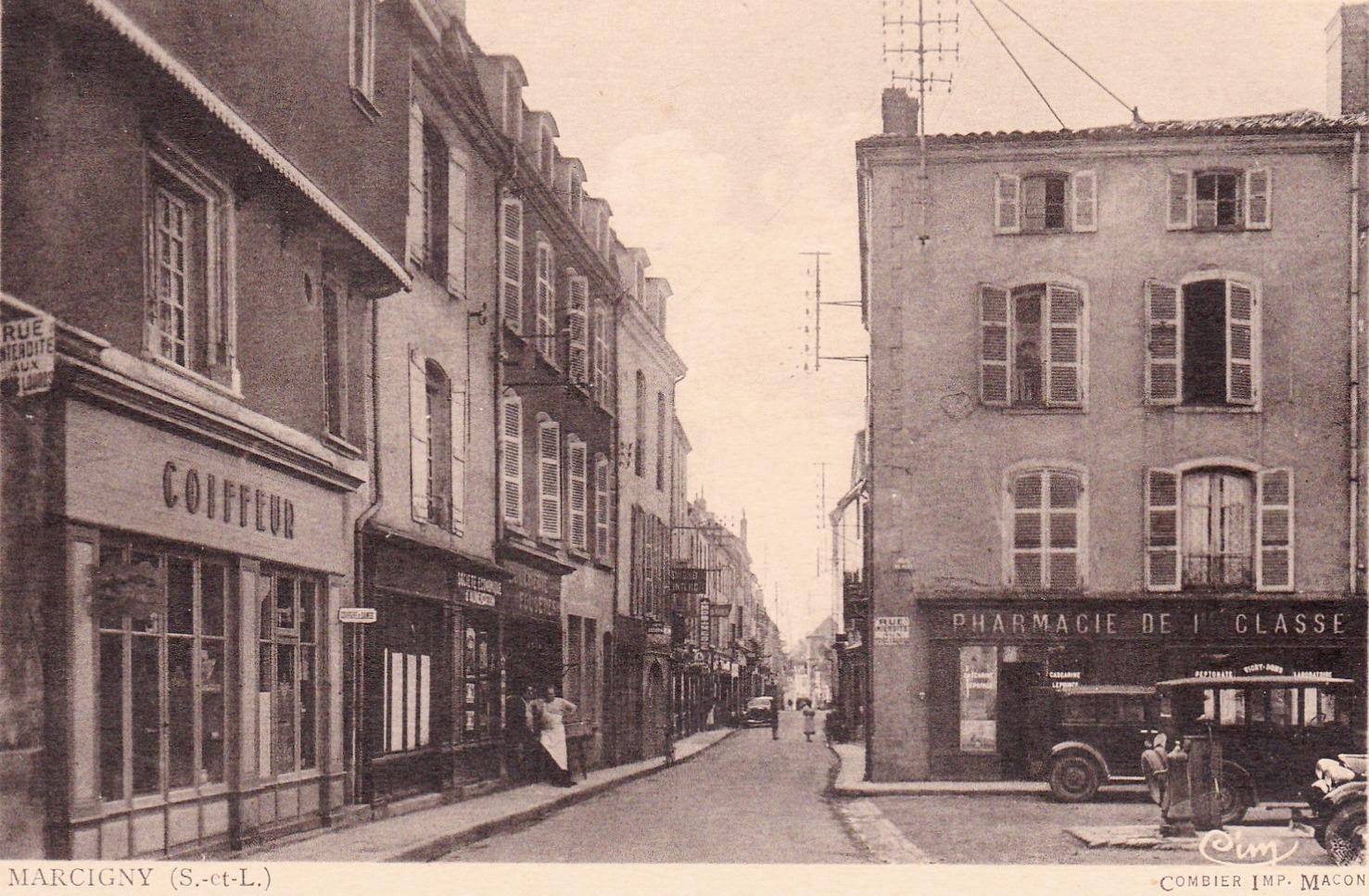 Marcigny (72) Rue Chevalière CPA