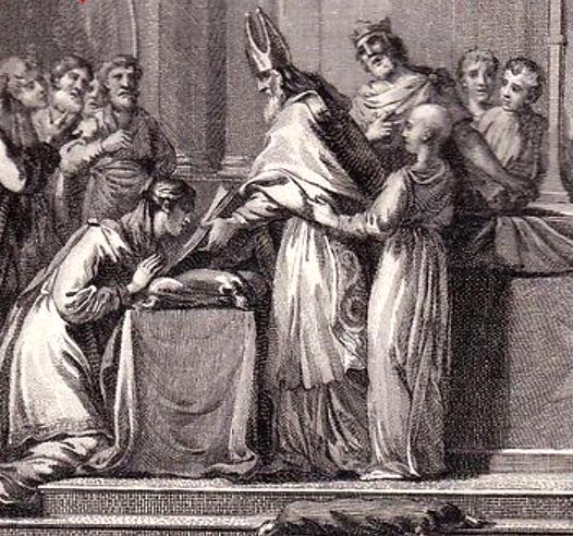 Mariage de Sigebert et Brunehaut, gravure du XVIIIe