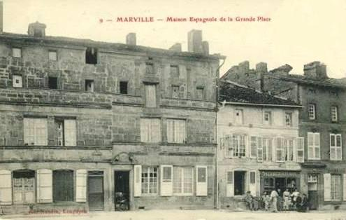 Marville (Meuse) La grand place CPA