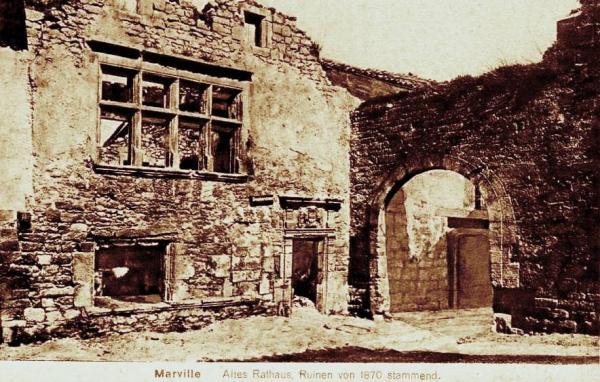 Marville (Meuse) Le couvent des Bénédictines en 1870 CPA