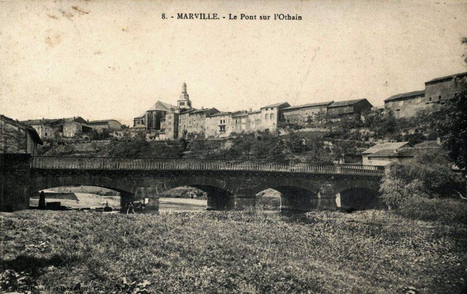 Marville (Meuse) Le pont sur l'Othain CPA