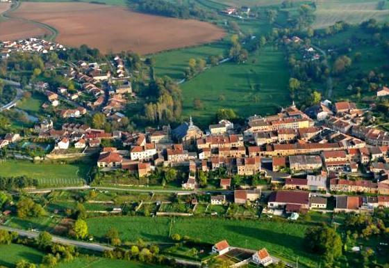 Marville (Meuse) Vue aérienne