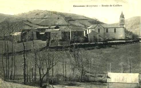 Montagnol (Aveyron) CPA Cénomes, route de Ceilhes