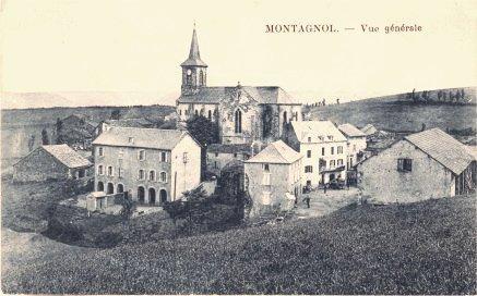 Montagnol (Aveyron) CPA Vue générale