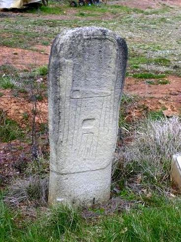 Montagnol (Aveyron) Statue-menhir de la Verrière