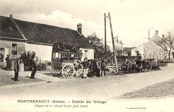 Monthenault (Aisne) CPA La diligence