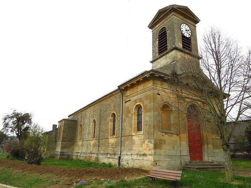 Montmédy (Meuse) Fresnois, l'église Saint Martin