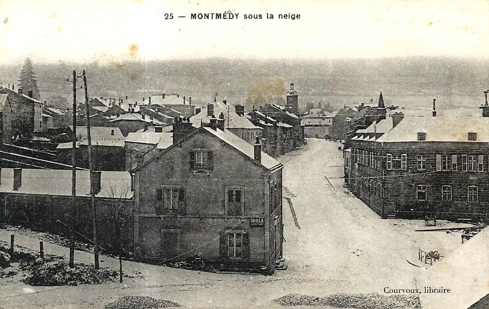 Montmédy (Meuse) Sous la neige CPA